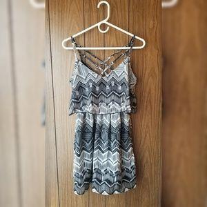 Black & White Zig Zag Pattern Dress